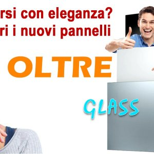 Nuovi pannelli OLTRE: l'eleganza in vetro bianco o nero da 60x60 cm 400W