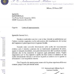 Applicazioni antighiaccio per lo sport: ringraziamento FC Inter